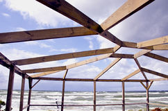 Free Wooden Pavilion Construction Near Sea Royalty Free Stock Photo - 23045205
