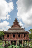 Wooden Pavilion. Royalty Free Stock Image