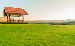 Wooden pavilion Royalty Free Stock Images