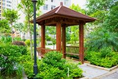 Wooden pavilion Royalty Free Stock Photo