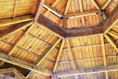 Wooden pavilion roof Royalty Free Stock Images