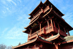 The wooden pavilion  in Zhangjiajie National Forest Park Royalty Free Stock Photos