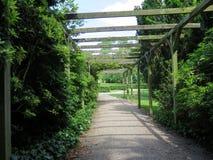 Wooden pavillion Stock Image