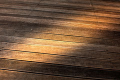 Wooden Paving Texture. Wooden paving with brown battens texture Royalty Free Stock Photography
