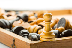 Wooden pawn Stock Photo