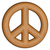 Wooden Peace Sign Stock Photo