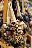 Wooden pearls necklace Royalty Free Stock Photography