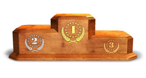 Wooden pedestal for trophies Stock Photography