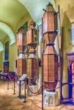 Wooden pedestals in the Basilica of Saint Ubaldo, Gubbio, Italy Stock Image