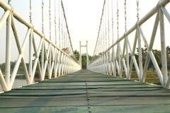 Wooden pedestrian bridge Royalty Free Stock Image