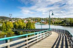 Wooden Pedestrian Bridge Stock Photography