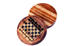 Wooden peg chess set Stock Image