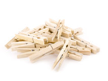 Wooden pegs Stock Photos