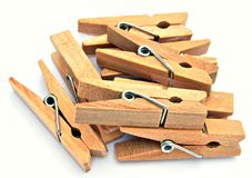 Wooden pegs Stock Photography