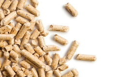 Wooden pellet .ecological heating Stock Photos