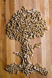 Wooden Pellet Tree Stock Image