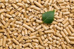 The wooden pellets Royalty Free Stock Photos