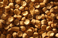 Wooden pellets Royalty Free Stock Photography