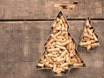 Wooden pellets, energy concept. Wooden pellets, alternative energy concept image royalty free stock image