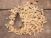 Wooden pellets, energy concept. Wooden pellets, alternative energy concept image stock photo