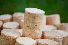 Wooden pellets Royalty Free Stock Image
