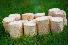 Wooden pellets Royalty Free Stock Photo