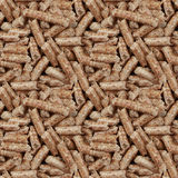 Wooden Pellets Seamless Background Stock Image