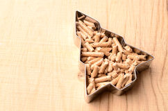 Wooden pellets Stock Image