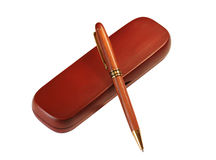 Wooden pen Royalty Free Stock Photo