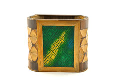 Wooden pen stand. Hand made wooden stand – handicrafts made by tribels Royalty Free Stock Photo