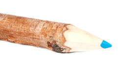 Wooden pencil. From birch on background Stock Photography