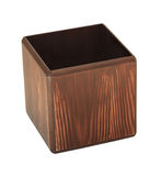 Wooden pencil cup Royalty Free Stock Image