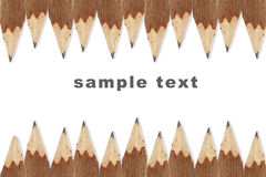 Wooden pencil isolated Royalty Free Stock Photo