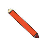 Wooden pencil isolated. Icon vector illustration graphic design Stock Photo