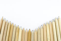 Wooden pencil isolated on white background Stock Photo
