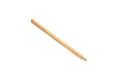 wooden pencil on white background Stock Image