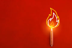 Free Wooden Pencil With Drawing Of Fire On The Edge Inspiration Creat Royalty Free Stock Photos - 80721958