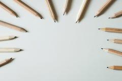 Wooden pencils Stock Photos