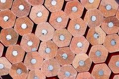 Wooden Pencils Closeup Stock Images
