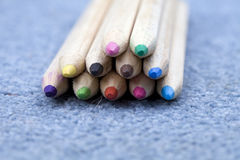 Wooden pencils, crayons Stock Photography