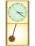 Wooden pendule clock Royalty Free Stock Photos
