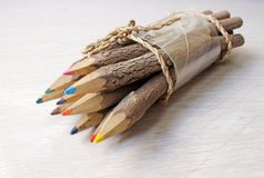 Wooden pens Stock Images