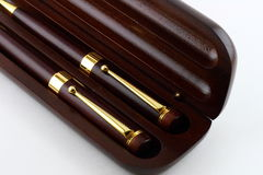 Wooden pens Royalty Free Stock Photo