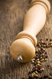 Wooden pepper mill Royalty Free Stock Photos