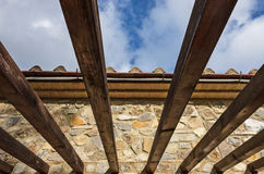 Wooden pergola Stock Photos