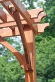 Wooden pergola close up Royalty Free Stock Photos