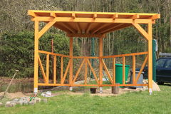 Wooden pergola Stock Photography