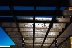 Wooden pergola Stock Images