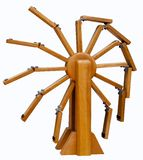 Wooden perpetual motion model royalty free stock photos