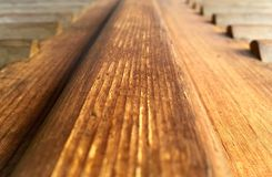 Wooden perspective Royalty Free Stock Photo